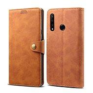 Lenuo Leather - Honor 9X mobiltelefon készülékekhez, barna színű