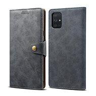 Mobiltelefon tok Lenuo Leather tok Samsung Galaxy A51 készülékhez - szürke - Pouzdro na mobil
