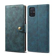 Mobiltelefon tok Lenuo Leather tok Samsung Galaxy A51 készülékhez - kék - Pouzdro na mobil