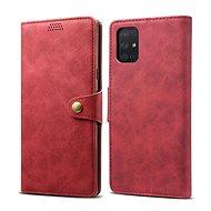 Mobiltelefon tok Lenuo Leather tok Samsung Galaxy A51 készülékhez - piros - Pouzdro na mobil