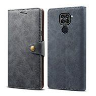 Mobiltelefon tok Lenuo Leather Xiaomi Redmi Note 9 készülékhez, szürke - Pouzdro na mobil