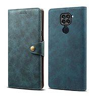 Mobiltelefon tok Lenuo Leather tok Xiaomi Redmi Note 9 készülékhez, kék - Pouzdro na mobil