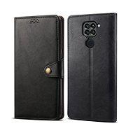 Mobiltelefon tok Lenuo Leather tok Xiaomi Redmi Note 9 készülékhez, fekete - Pouzdro na mobil
