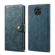 Mobiltelefon tok Lenuo Leather tok Xiaomi Redmi Note 9 Pro/Note 9S készülékhez, kék - Pouzdro na mobil