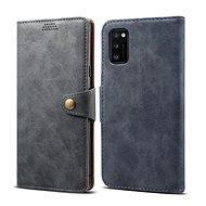 Lenuo Leather tok Samsung Galaxy A41 készülékhez, szürke - Mobiltelefon tok