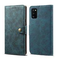 Lenuo Leather tok Samsung Galaxy A41 készülékhez, kék - Mobiltelefon tok