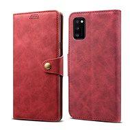 Lenuo Leather tok Samsung Galaxy A41 készülékhez, piros - Mobiltelefon tok