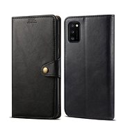 Lenuo Leather tok Samsung Galaxy A41 készülékhez, fekete - Mobiltelefon tok