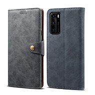 Lenuo Leather tok Huawei P40 készülékhez, szürke - Mobiltelefon tok