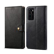 Lenuo Leather tok Huawei P40 készülékhez, fekete - Mobiltelefon tok