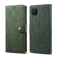 Lenuo Leather tok Huawei P40 Lite készülékhez, zöld - Mobiltelefon tok