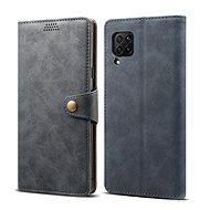 Lenuo Leather tok Huawei P40 Lite készülékhez, szürke - Mobiltelefon tok