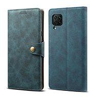 Lenuo Leather tok Huawei P40 Lite készülékhez, kék - Mobiltelefon tok