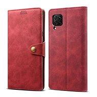 Lenuo Leather tok Huawei P40 Lite készülékhez, piros - Mobiltelefon tok