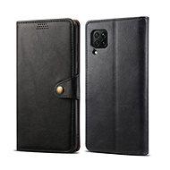 Lenuo Leather Huawei P40 Lite készülékhez, fekete - Mobiltelefon tok