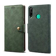Lenuo Leather tok Huawei P40 Lite E készülékhez, zöld - Mobiltelefon tok