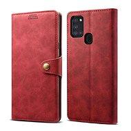 Mobiltelefon tok Lenuo Leather Samsung Galaxy A21-hez, piros - Pouzdro na mobil