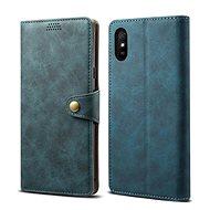Mobiltelefon tok Lenuo Leather tok Xiaomi Redmi 9A készülékhez, kék - Pouzdro na mobil