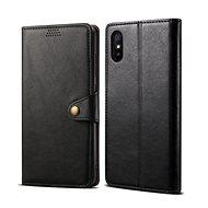 Mobiltelefon tok Lenuo Leather Xiaomi Redmi 9A készülékhez, fekete - Pouzdro na mobil