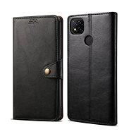 Mobiltelefon tok Lenuo Leather tok Xiaomi Redmi 9C készülékhez, fekete - Pouzdro na mobil