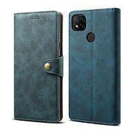 Mobiltelefon tok Lenuo Leather Xiaomi Redmi 9C készülékhez, kék - Pouzdro na mobil