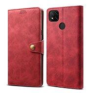 Mobiltelefon tok Lenuo Leather Xiaomi Redmi 9C készülékhez, piros - Pouzdro na mobil