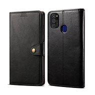Lenuo Leather Samsung Galaxy M21-hez, fekete - Mobiltelefon tok