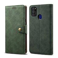 Lenuo Leather Samsung Galaxy M21-hez, zöld - Mobiltelefon tok