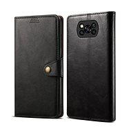 Mobiltelefon tok Lenuo Leather Xiaomi Poco X3-hoz, fekete - Pouzdro na mobil
