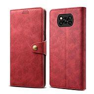 Mobiltelefon tok Lenuo Leather Xiaomi Poco X3-hoz, piros - Pouzdro na mobil