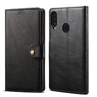 Lenuo Leather Samsung Galaxy A20 készülékhez, fekete - Mobiltelefon tok