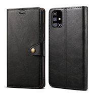 Mobiltelefon tok Lenuo Leather Samsung Galaxy M31s-hez, fekete - Pouzdro na mobil