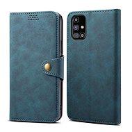 Mobiltelefon tok Lenuo Leather Samsung Galaxy M31 készülékekre, kék - Pouzdro na mobil