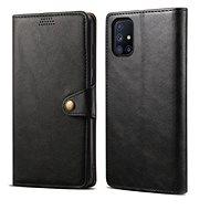 Lenuo Leather Samsung Galaxy M51 készülékre, fekete - Mobiltelefon tok