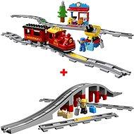 LEGO DUPLO 10874 Gőzmozdony + 10872 Vasúti híd és sínek - LEGO