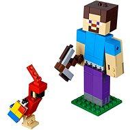 LEGO Minecraft 21148 Minecraft BigFig Steve papagájjal - Építőjáték