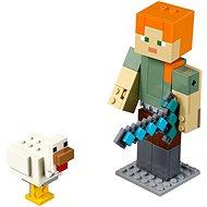 LEGO Minecraft 21149 Minecraft BigFig Alex csirkével - Építőjáték