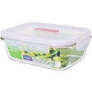 Lock&Lock üveg/műanyag, téglalap, 1l-es élelmiszerdoboz fedéllel - Edény