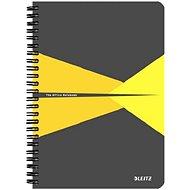 LEITZ Office A5 90 lap - szürke / sárga - Jegyzettömb