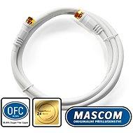 Mascom koaxiális kábel 7676-015W, F csatlakozó 1,5 m - Koax kábel