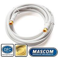 Mascom koaxiális kábel 7676-030W, F csatlakozó 3m - Koax kábel