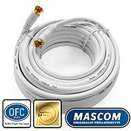 Mascom 7676-100W koaxiális kábel, F csatlakozó 10m - Koax kábel