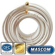 Mascom koaxiális kábel 7676-150W, csatlakozók F 15m - Koax kábel
