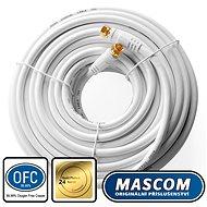 Mascom koaxiális kábel 7676-200W, F csatlakozó 20m - Koax kábel