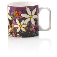 Maxwell & Williams bögre 350ml Art Love Life, lila, fehér virággal