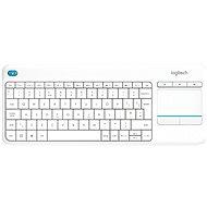 Logitech Wireless Touch KBD K400 Plus White DE - Billentyűzet