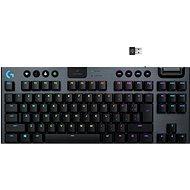 Logitech G915 LIGHTSPEED Tenkeyless Wireless RGB GL Tactile US INTL, carbon - Gamer billentyűzet