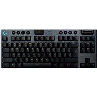 Logitech G915 LIGHTSPEED Tenkeyless Wireless RGB GL Clicky US INTL, carbonNTL, szén - Gamer billentyűzet
