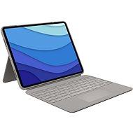 "Logitech Combo Touch for iPad Pro 12.9 ""(5. generáció), homok - US INTL - Billentyűzet"