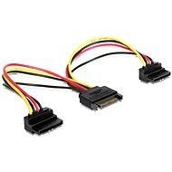 Gembird Cableexpert SATA, 2x SATA 90°-os tápelosztó, 0,15 m - Hosszabbító